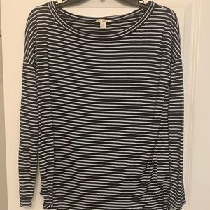 Striped Heart Elbow Patch Shirt